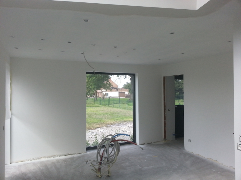 Faux plafond cloison plafonneur pl trier r novation de for Plafonnage mur exterieur